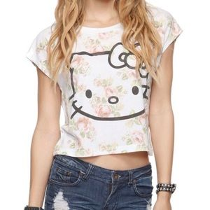 🆕Floral Hello Kitty Crop Top